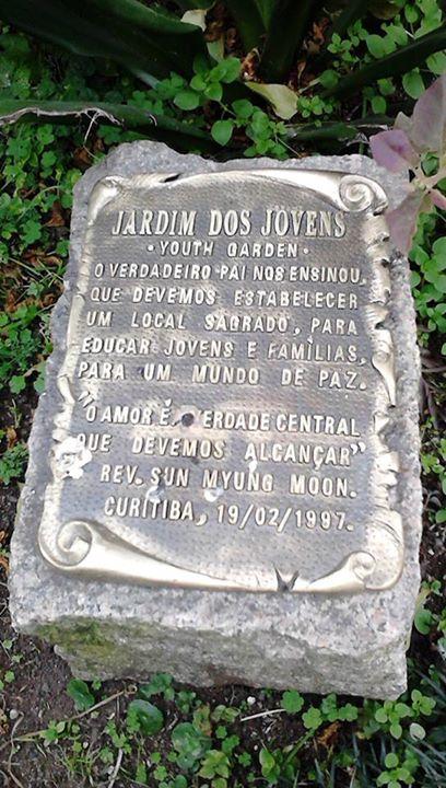 Pedra sagrada na sede de Curitiba.